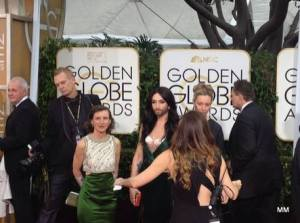 Conchita Arrives at the Red Carpet of The Golden Globe Awards. Photo : Twitter