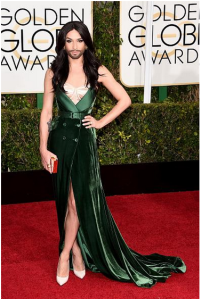 Conchita at the Golden Globes. Photo : Twitter