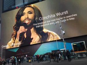 Conchita in Time Square. Photo : Wikimedia