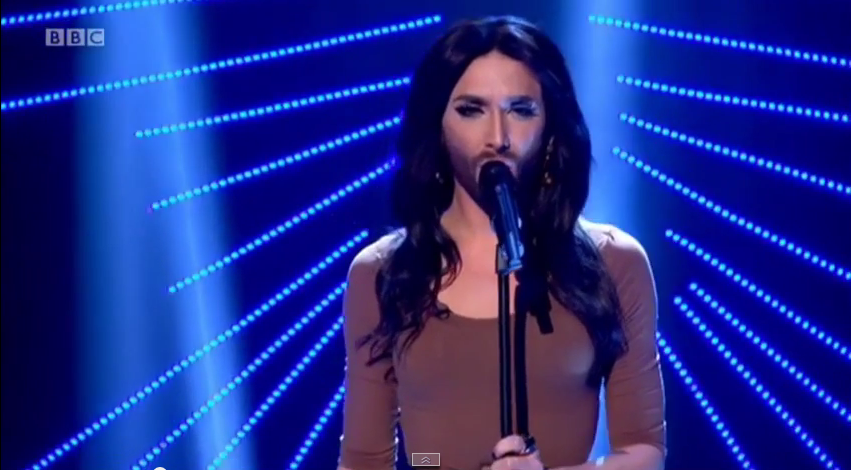 Conchita Wurst Wins at the Gay Music Awards. Photo : BBC