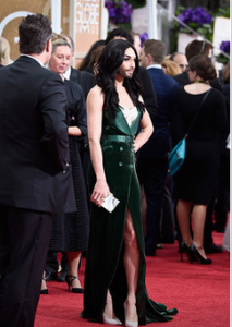 Conchita on the Golden Globe red carpet. Photo : Twitter