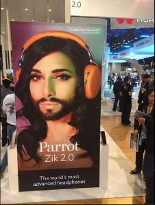 Conchita Parrot Campaign in American Stores. Photo : Conchita Wurstgiminder