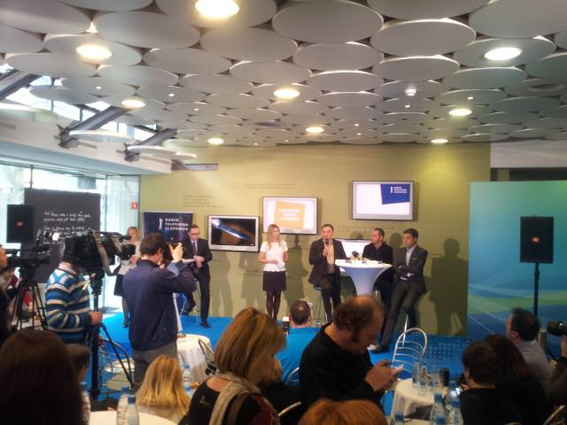 Live from the EMA 2015 Press Centre. Photo : Eurovision Ireland/Jan Vehar