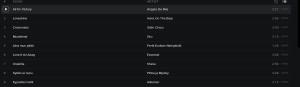 Songs 1-9 in UMK 2015. Photo Spotify