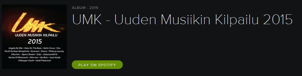 UMK 2015 Album. Photo : Spotify