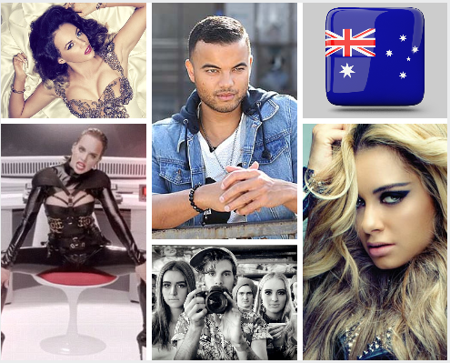 Australian Potential Singers for Eurovision 2015
