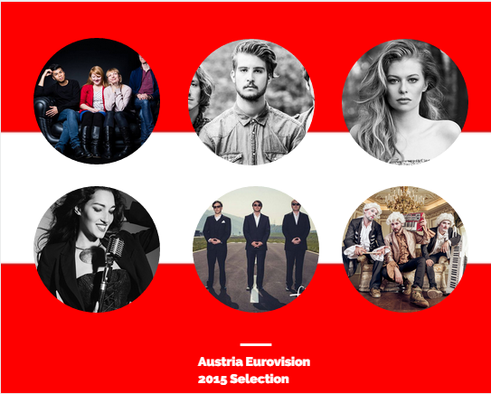 Austria 2015 Eurovision Selection Finalists