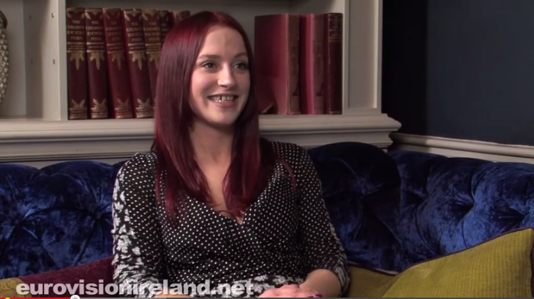 Kat Mahon Interview. Photo : Eurovision Ireland