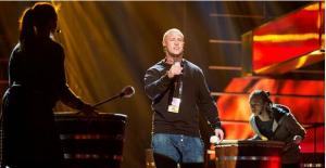 Linus at Melodifestivalen 2015. Photo : SVT