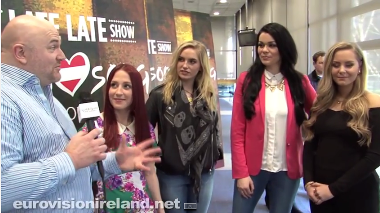 The Girls At Eurosong 2015. Photo : Eurovision Ireland