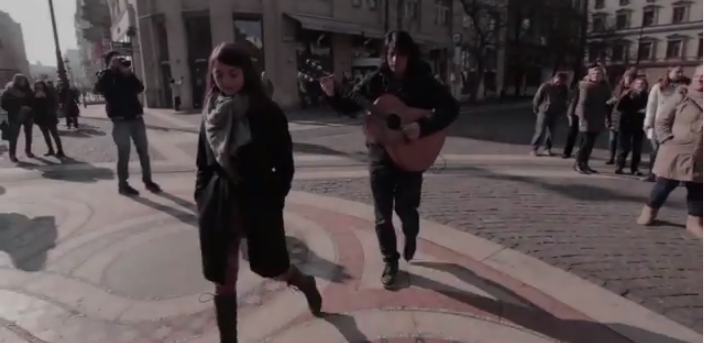 HUNGARY : Watch as Boggie goes acoustic for her official Eurovision video on the streets. Photo : YouTube