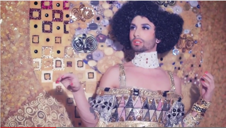 Conchita as the Golden Adele