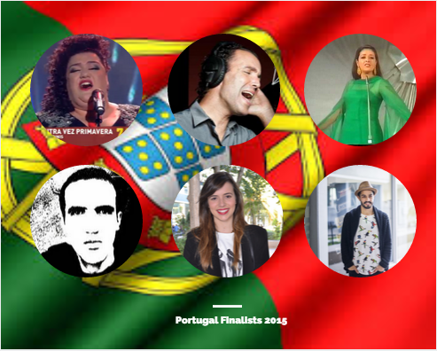 Finalists in Portugal 2015