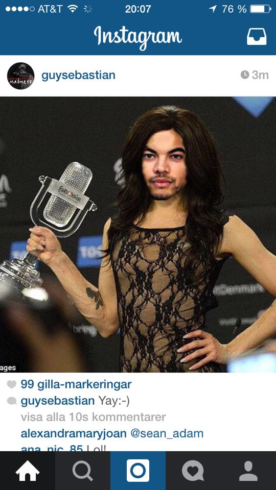 Guy Sebastian as Conchita Wurst. Guy Sebastian as Conchita Wurst