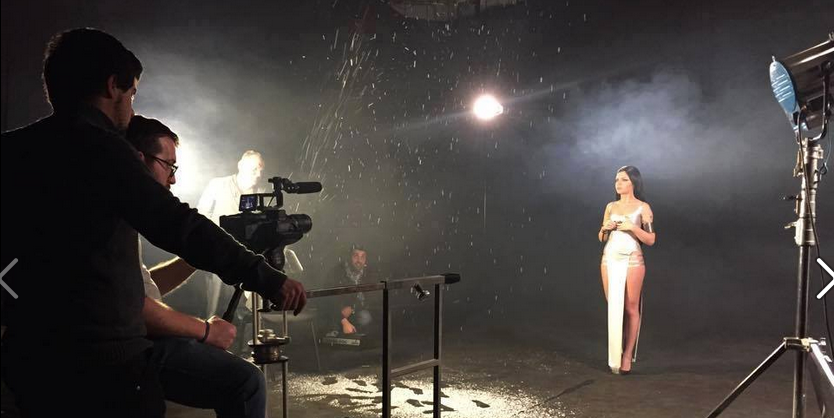 Nina on set for her new video for 'Warrior'. Photo : facebook