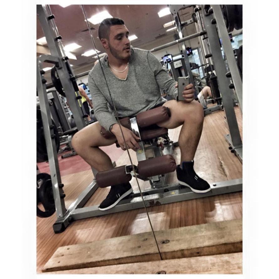 Nadav at the Gym. Photo : Facebook