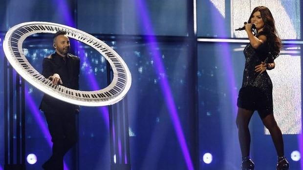 Paula and Ovi - Eurovision 2014. Photo : YouTube