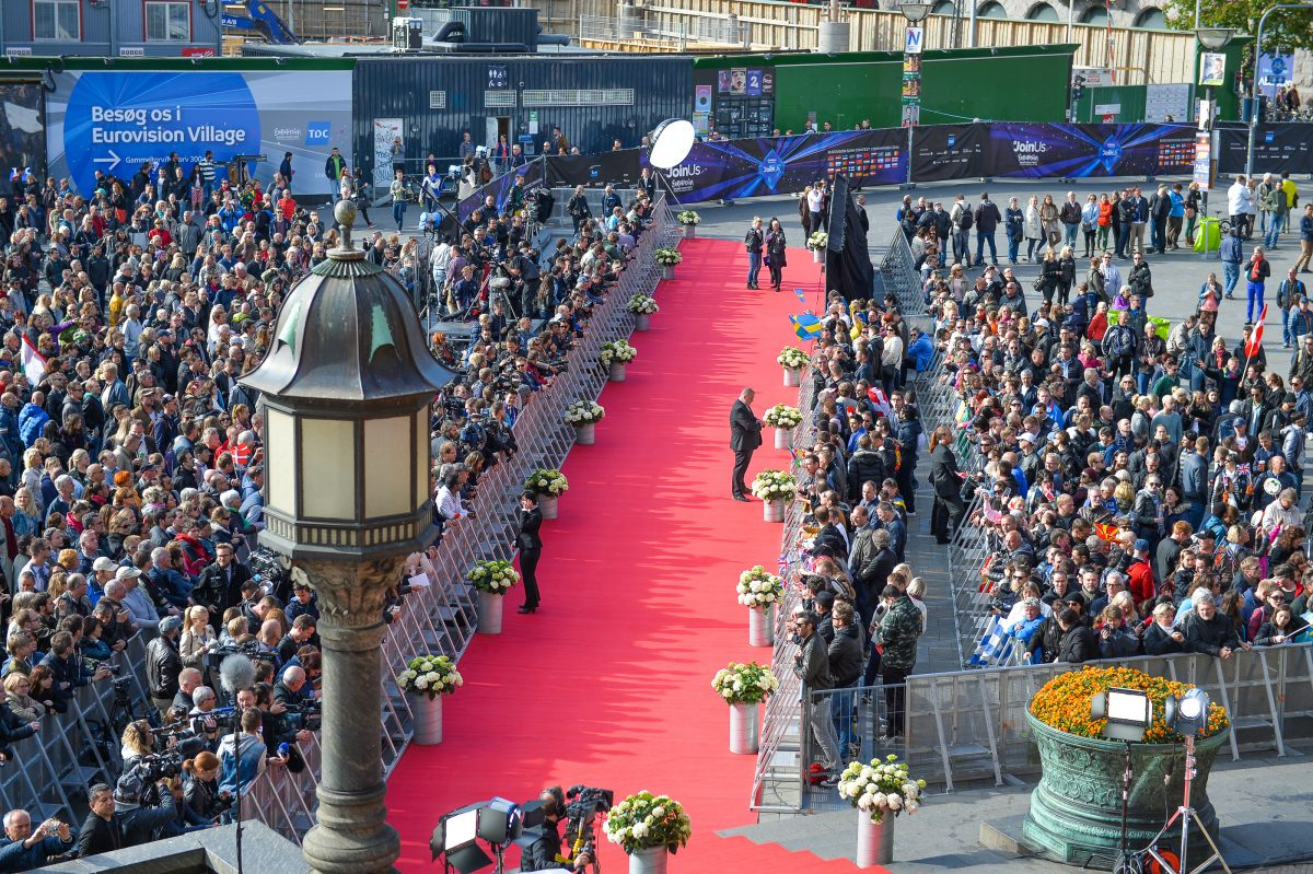 Red Carpet for the 2014 Eurovision Song Contest in Copenhagen Andres Putting (EBU
