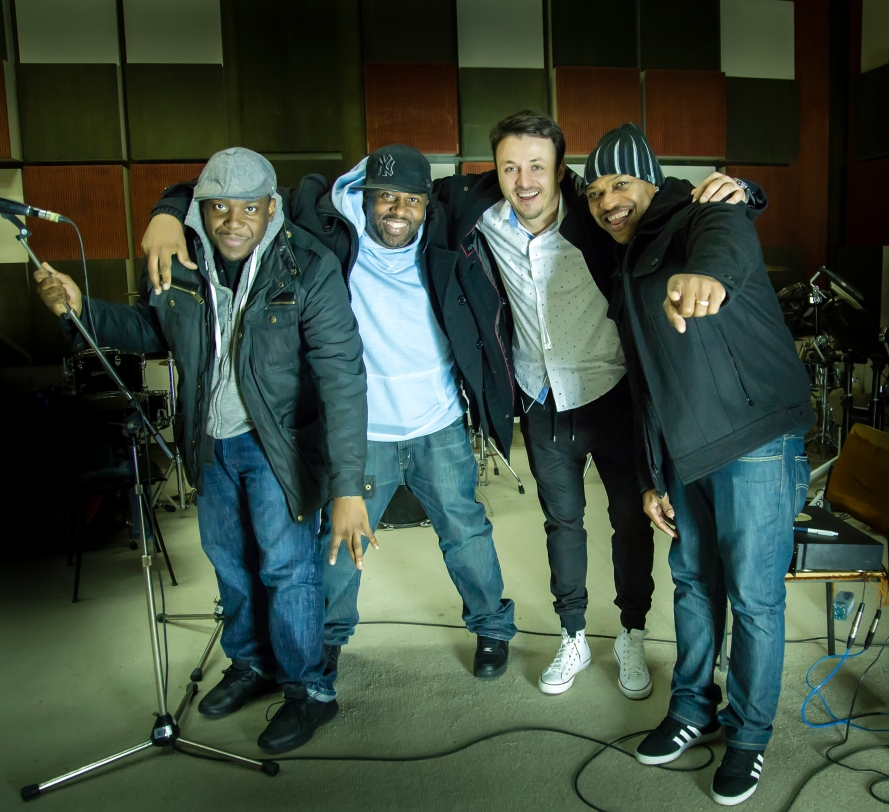 Macedonia - Daniel and MERJ (Formerly Blackstreet) together for Eurovision. Photo : MRTV