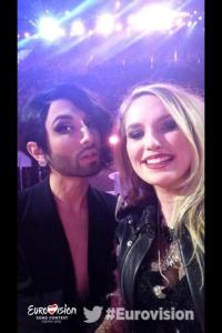Molly and Conchita. Photo : Molly Sterling Facebook