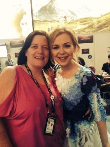 Monika from Lithuania immediately after Jury Final performance