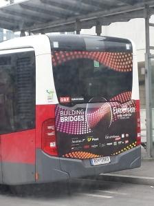 Viennese buses get into the Eurovision spirit! Photo: Eurovision Ireland