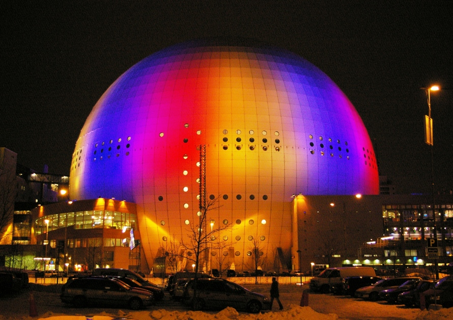 Globen Arena Stockholm. Photo Wikipedia