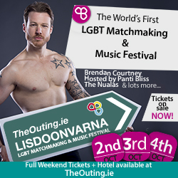 250x250 The Outing Lisdoonvarna LGBT Matchmaking & Music Festival Ireland Weekend Tickets Small Ad 2015