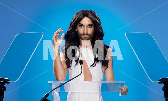 Conchita Wurst at the MoMA Poster / image: (c) MoMA