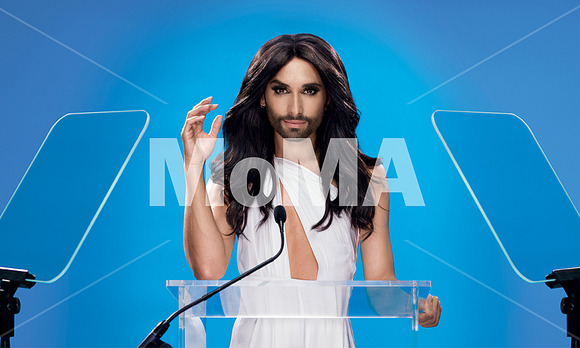 Conchita Wurst at the MoMA Poster / image: (c) MoMA