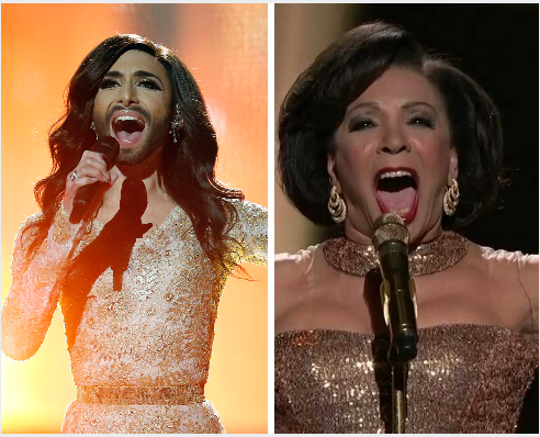 Conchita and Dame Shirley Bassey