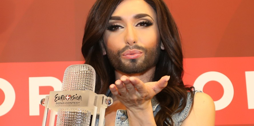 Conchita Wurst Arrives In Vienna