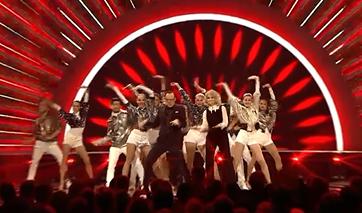 hosts dancing