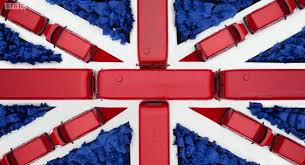 Union Flag of buses