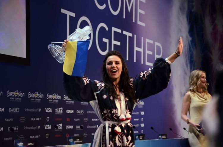 Jamala Wins Eurovision. Photo : Eurovision Ireland