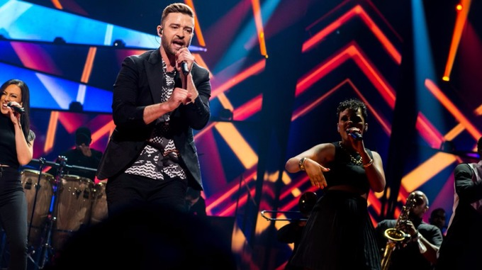 Justin Timberlake at Eurovision : Photo Credit: Anna Velikova (EBU)