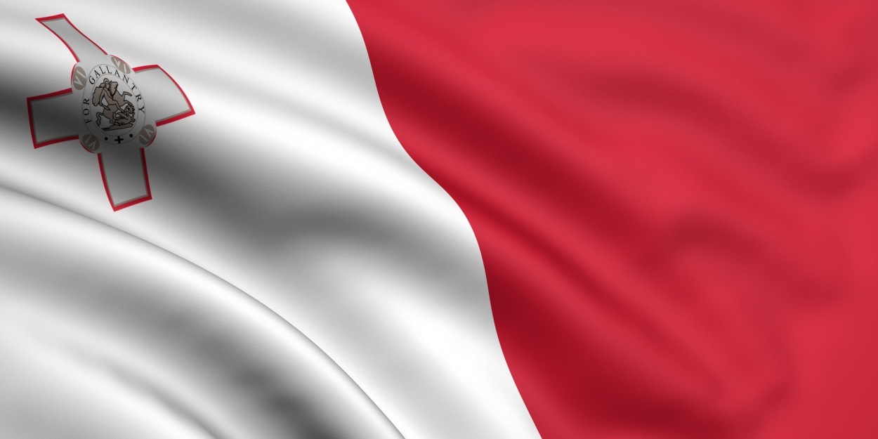 3d rendered and waving flag of malta